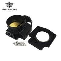 PQY 102mm Throttle Body +Manifold Adapter Plate for LS LS2 LS3 LS6 LS7 LSX BLACK PQY6938+TBS51