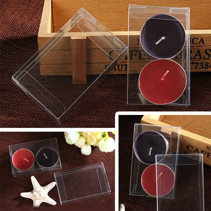 100pcs 3xWxH jewelry gift box clear boxes plastic box transparent storage pvc box packaging Display pvc boxen for wed/christmas