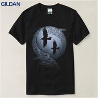T Shirt Estate Vikings delle Serie TV Odin Raven Ragnar Lodbrok Bianco Estate sportwear casual t-shirt