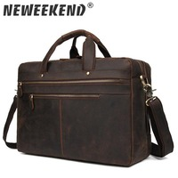 Mens Bag Genuine Leather Men Laptop Shoulder Bag Men's Crossbody Bags Male Messenger Bag Men Leather Briefcases Men Tote 7389R