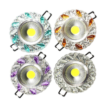 5pcs/Lot Crystal COB 3W Led Downlights Recessed | Embedded LED Downlights