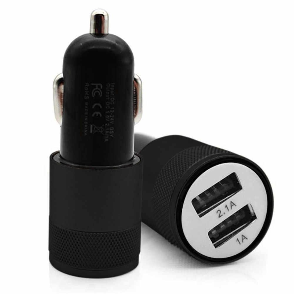 Puerto Dual USB cargador de coche Universal 5V 3.1A carga rápida Mini 2 puertos USB adaptador de cargador de coche para inteligente teléfono celular móvil