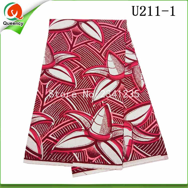 Free shipping Elegant African hollands wax 100%cotton African wax 6yards/lot 2colors Newest genuine duth wax for women dress.