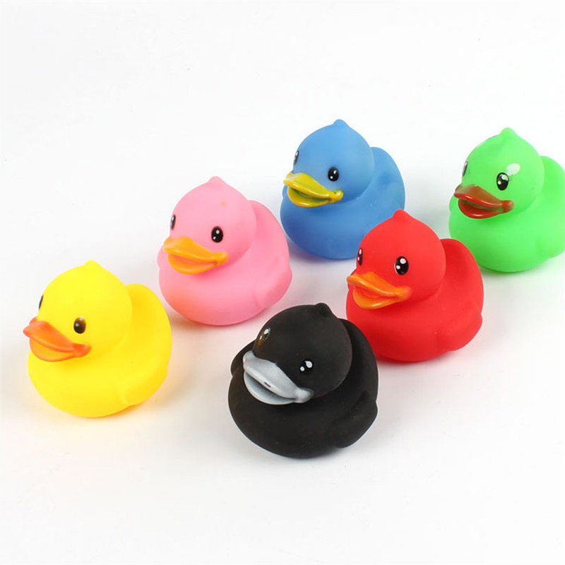 6Pcs Animals Colorful Soft Rubber Float Squeeze Sound Squeaky Bath ...