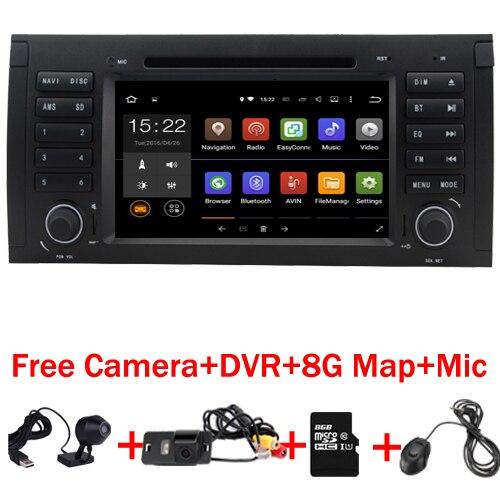 В наличии 4 ядра 1024x600 HD емкостный Сенсорный экран автомобильный DVD для BMW E39 Android 7.1 E53 Wi-Fi 3G Bluetooth радио canbus