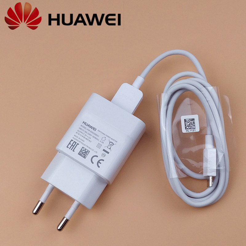 EU <font><b>Original</b></font> 5V/2A Usb Adaptor charger charge Micro usb cable for huawei y6 prime 2018 p20 p10 p9 <font><b>lite</b></font> p8 y7 <font><b>honor</b></font> <font><b>9</b></font> <font><b>lite</b></font> 7x 8x image