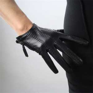 Image 3 - כפפות מסך מגע כפפות נשים סגנון קצר רוכסן ציצית מיובאת נאד עור אמיתי אופנה נשית נהיגה כפפות TB08