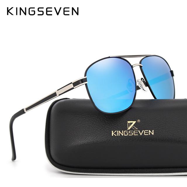 New Arrival 2017 KINGSEVEN Vintage Pilot Brand Designer Male Sunglasses Men/Women Sun Glasses gafas oculos de sol masculino 738