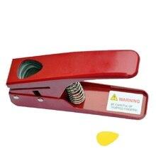 Plettro per chitarra Perforatrici a Forma di Cuore Raccoglie Circa 33*22mm; Plettro FAI DA TE Craft Punch Carta di Plastica Cutter