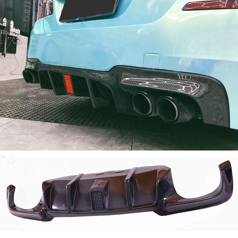 VO R Style flashlight Carbon fiber Rear Diffuser Fit For BMW F10 M5