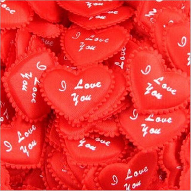 Hot Casamento 100pcs I Love You Heart Symbol Wedding Flower Petals