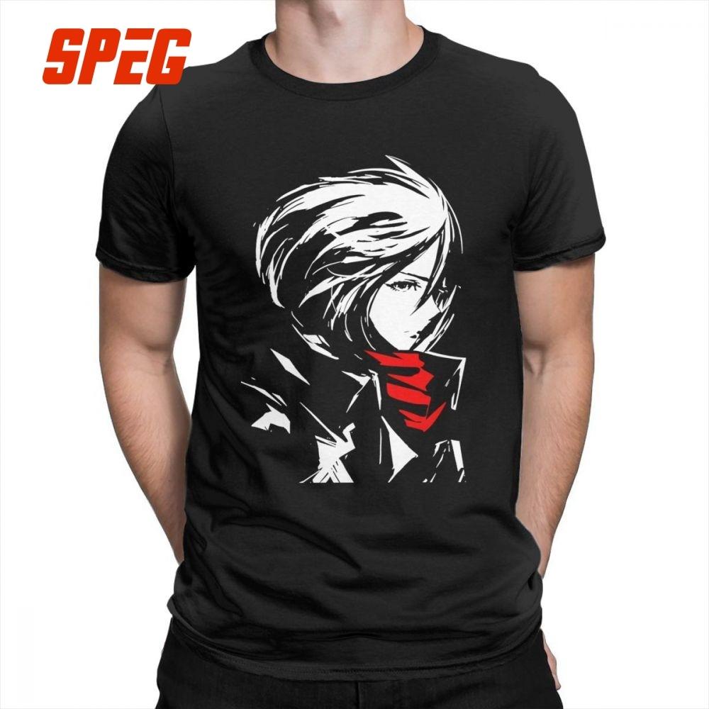 Attack On Titan Mikasa AOT Beautiful T Shirts Purified Cotton Mens T-Shirts Cool Tee Shirts Unique Short-Sleeved Crewneck