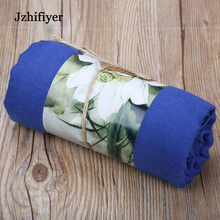 jzhifiyer Free Shipping 150*180cm 180G Super Large Size Ladies Big Plain Cotton Scarfs Hijabs Shawls In Stock 20Colors