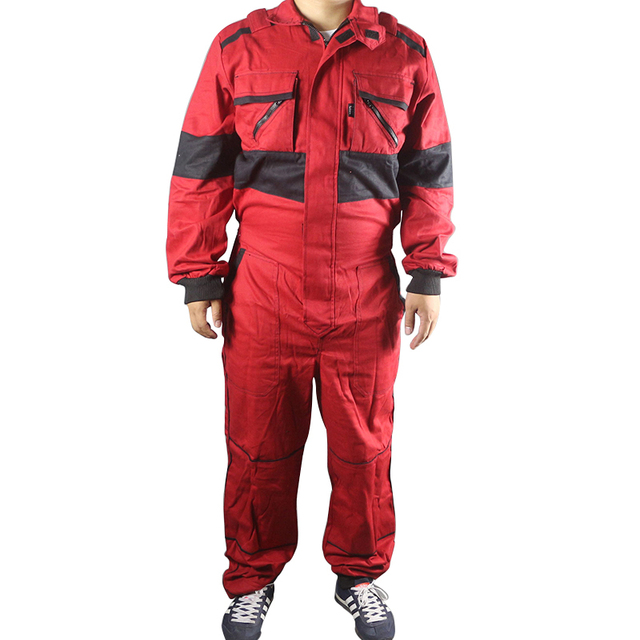 3dbd58c79350 Work Coveralls Welding Fireproof Work Clothing Long Sleeve Overalls For  Worker Repairman Machine Auto Repair Factory Uniforms