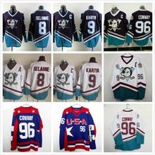 Mighty Ducks Movie Jersey  8 SELANNE 9  Paul Kariya 96 Conway Retro Ice  Hockey. 7 Colors Available 83b3bb4d8