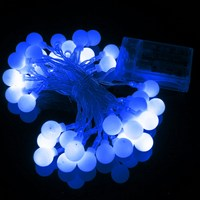 5M Led String Light Globe Ball Patio Battery Power With Remote Control Christmas Party 50 LED