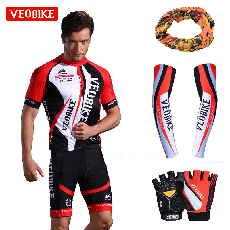 057e0c4f3 VEOBIKE 2018 Pro Men Cycling Jersey Set Breathable MTB Clothes Quick Dry  Bicycle Summer Sportswear Bike Jerseys Ropa Ciclismo