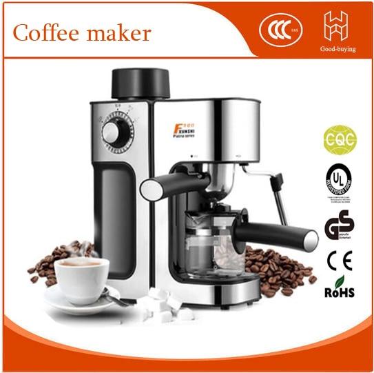 K Cup Coffee Maker With Milk Steamer : Automatic Espresso Coffee maker Coffee machine High pressure Steam Espresso machine Milk bubble ...