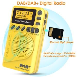 Image 2 - מיני כיס דיגיטלי DAB רדיו FM מקלט RDS נייד MP3 נגן עם LCD תצוגת מסך תמיכה TF כרטיס שינה זמן סט