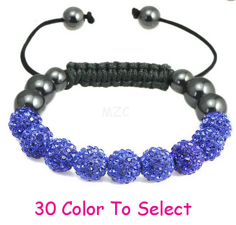 free shipping bndh new style mfgjfjhdfh HOT 10mm hot Disco Ball Beads Crystal Shamballa Bracelet Fasion Jewelry For Women Men.
