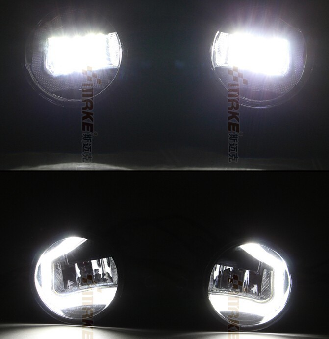 Osmrk LED DRL daytime running light + Fog Lamp for 2004~2013 SUZUKI Swift, top super bright, fast shipping, 2pcs+wire of harness