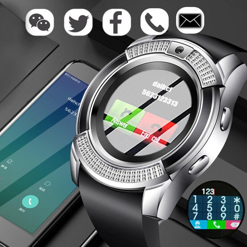 Homens Mulheres relógio de Pulso Relógio Inteligente Apoio BANGWEI Com Câmera Bluetooth Tf SIM Smartwatch Para Android Ios Telefone Relógio Casal