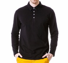 New 2017 Men's Polo Shirt  Cotton Casual Long Sleeve Loose Fit POLO Shirts