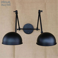 Double Swing Arm wall Lights Bedside novelty indoor lamp modern Wall Sconce bedroom wall lamps Reading Light E27 lighting decor