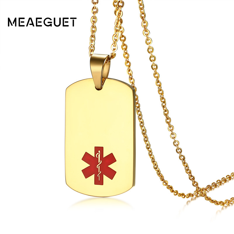 New Stainless Steel Zodiac Dog Tag Pendant Men S Women S: Meaeguet Free Laser & Engrave Stainless Steel Dog Tag ID