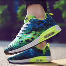 2017 Sport Shoes Men Running Shoes for males Elastic Outdoor Walking Sneaker Air Cushion Athletic Trainer Man For Training Runner