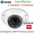 1.3MP 960 P CCTV Fisheye Панорамный мини Антивандальная купольная ip-камера 130 Градусов Широкий Угол камеры с 12 шт. светодиодов ИК бесплатно доставка