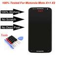 For Motorola Moto X+1 X2 LCD XT1092 XT1095 XT1096 XT1097 2nd 2014 LCD Display Touch screen digitizer Assembly + tools w track no