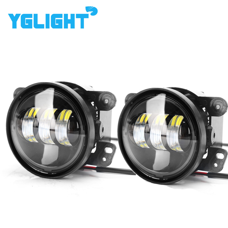 High Quality Led Fog Light 4 Inch 30W For Jeep Wrangler JK 07~14 With CREE Led Chip Fog Lamp Car Auto DRL Lighting Led Headlamp high quality stainless steel black light guard rear taillights cover for 07 17 jeep wrangler jk 2 door