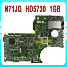 N71JQ Laptop Motherboard for ASUS N71JQ N71JA REV 2.1 Support i7 720QM 1G 60-NYDMB1000 D11 69N0H1M10D11 Motherboard 100%Test