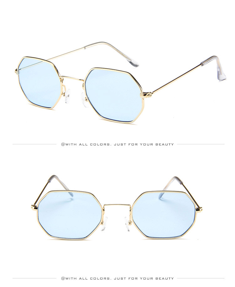 Xinfeite Sunglasses Fashion Personality Small Metal Polygonal Colorful UV400 Summer Sun Glasses For Men Women X388