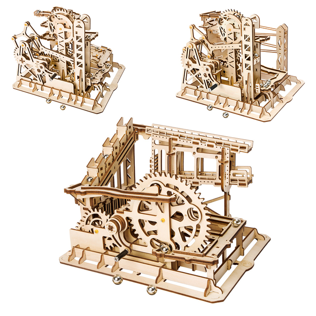 5 Kinds Wooden Toys Creative DIY Laser Cutting 3D Mechanical Model Wooden Puzzle Game Assembly Toy