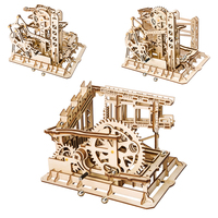 5 Kinds Wooden Toys Creative DIY Laser Cutting 3D Mechanical Model Wooden Puzzle Game Assembly Toy Gift for Children Teens Adult