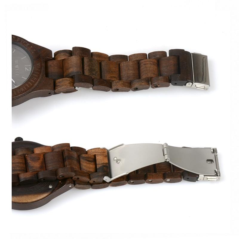 BEWELL Top Luxe Merk Heren Houten Horloges Heren Waterdicht quartz - Herenhorloges - Foto 6