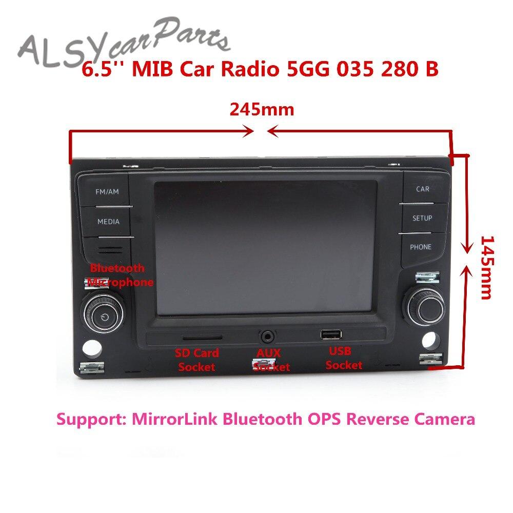 KEOGHS 6.5 Inch MIB Car Radio Player 5GG 035 280 B For VW MQB Golf MK7 Passat B8 Bluetooth OPS Reverse Camera Image 5GG035280B