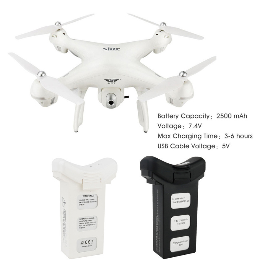 Pure Drone Batteries - LiPo Intelligent Lipo Battery 7.4V 2500mAh For Holy Stone HS100 S70W Dorne Quadcopter MAY 27
