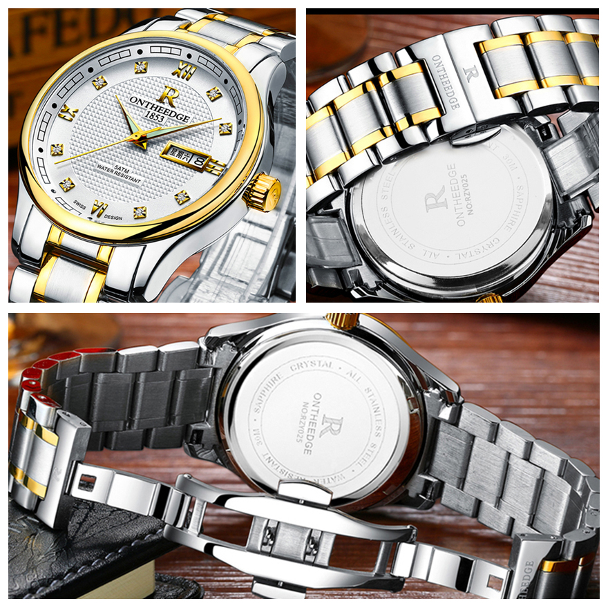 RONTHEEDGE Reloj de Cuarzo Hombres Top Marca Analógico Militar - Relojes para hombres - foto 5