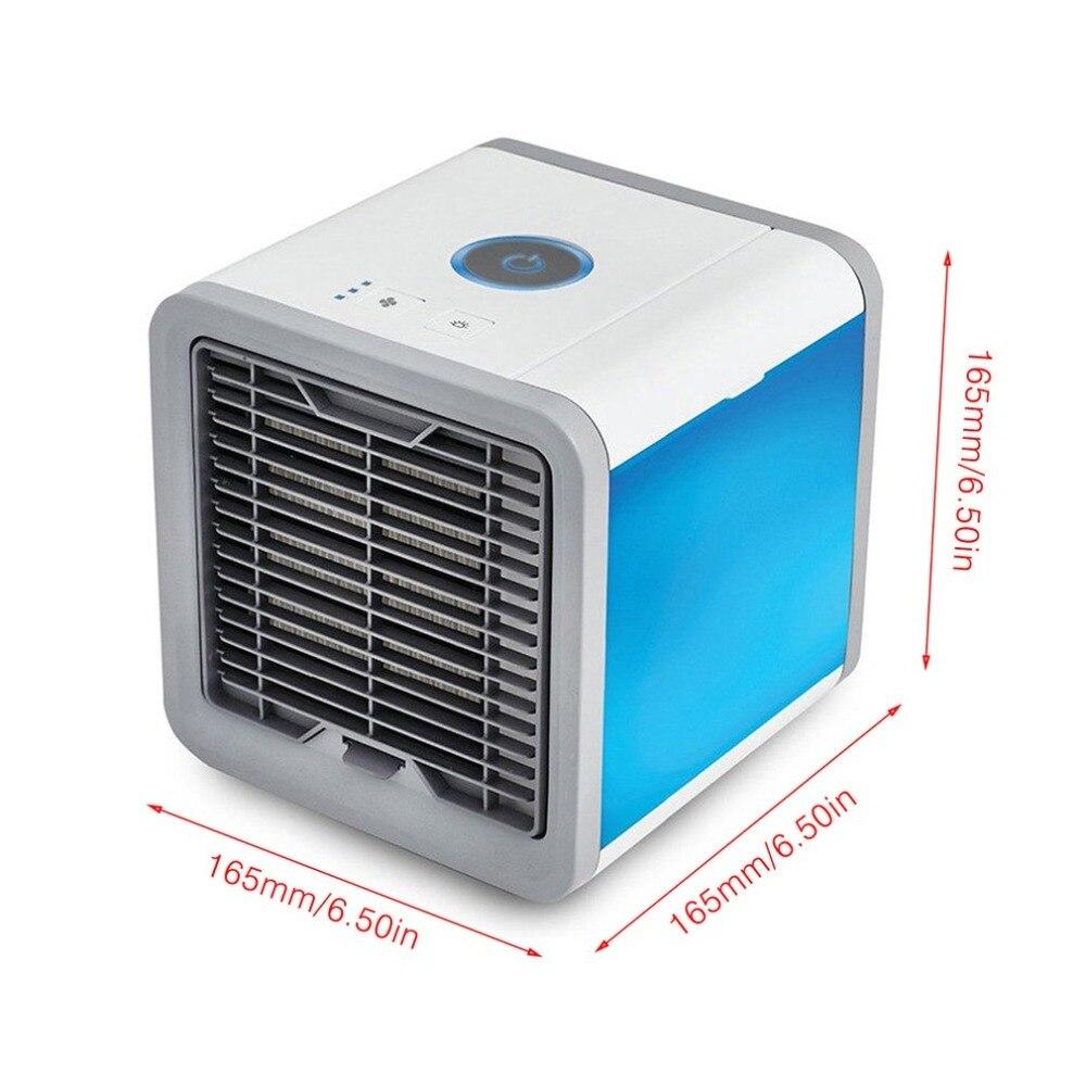 Портативный мини-вентилятор Air Arctic кондиционер успокаивающий 7 цветов светодиодный свет увлажнитель для Офис Перевозка груза падения