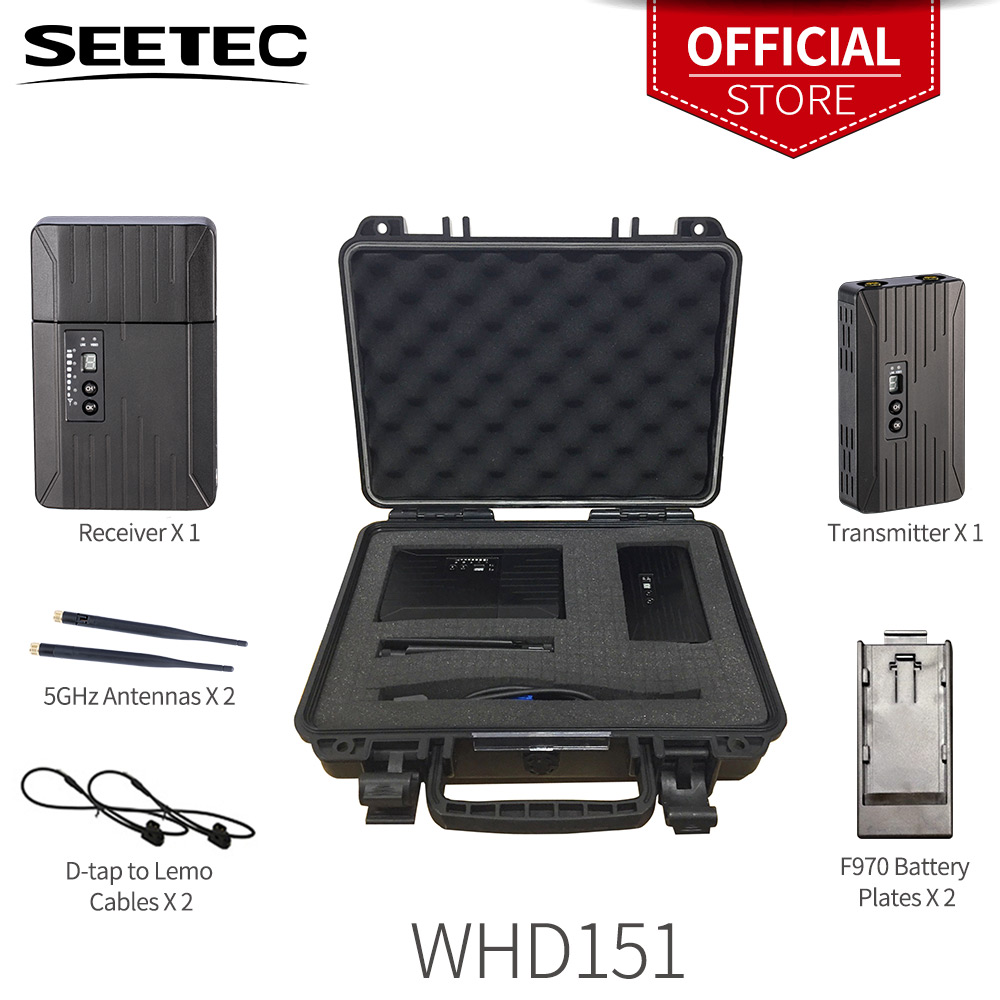 150m 500ft 5ghz whdi hdmi sdi wireless transmission system 1080p hd video tv broadcast wifi extender transmitter and receiver SEETEC WHD151 150m SDI/ HDMI Wireless Video Transmission System 1080P HD Video Broadcast Transmitter and Receiver for Filmmaking