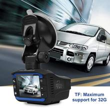 2 in 1 Car DVR Dash Cam Video Radar Speed Detector Night Vision Detection Inch HD LCD Display 720P Support 32G TF