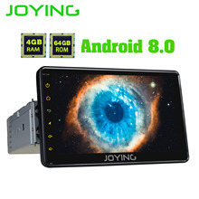 JOYING 7 «HD 1 din автомобильный радиоприемник playe Android 8,1 Универсальный Восьмиядерный встроенный DSP и 4G поддержка SWC/быстрая загрузка/сплит-экран Авторадио