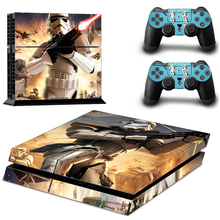 Vinyl Skin Stickers Star Wars For Sony PS4 Console + 2 Controllers Skins Decals