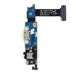 Telefon komórkowy Wymiana Część dla Samsung Galaxy S6 krawędzi G925A Port Ładowania Podłącz Flex Cable + Gniazdo Słuchawkowe + Mikrofon + Senso