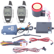 EASYGUARD LCD display two way motorcycle alarm system microwave sensor remote engine start shock warning DC