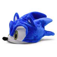 Sonic Adjustable Sonic Hat Cartoon Summer Hat Soft Peluche Plush Toy One Size Hot Selling