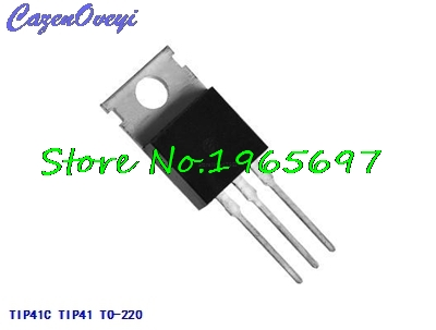 10pcs/lot TIP41C TIP41 TO-220 6A 100V 65W New Original In Stock